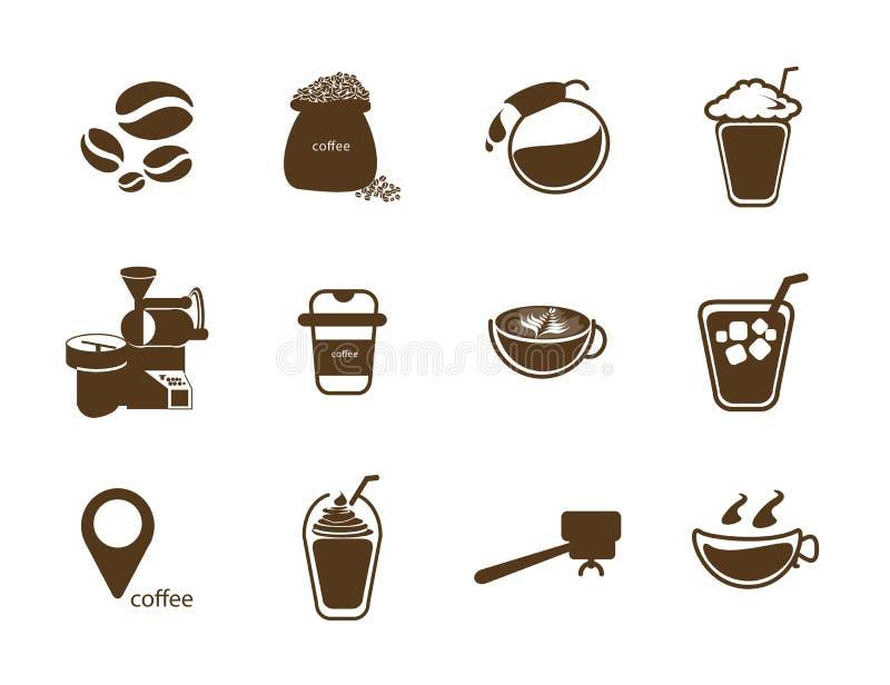 所有关于咖啡店 皇族释放例证