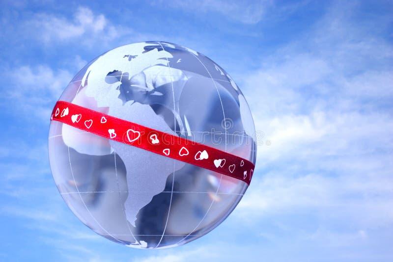 所有在爱世界范围内 向量例证