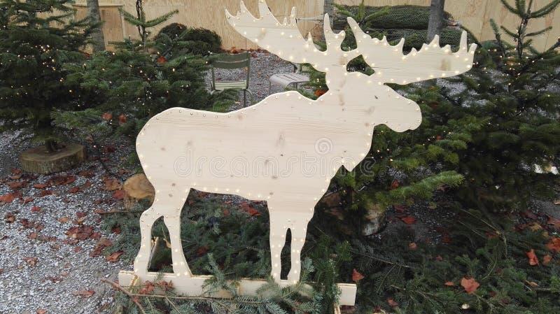 所有所有圣诞节鹿要素例证各自的对象称范围纹理导航 库存照片