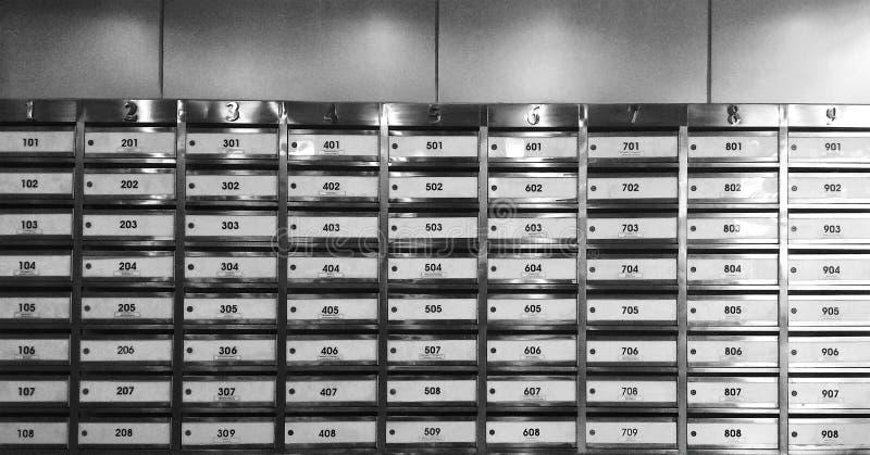 所有把计算办公室过帐的闭合的数字装箱三 免版税库存图片