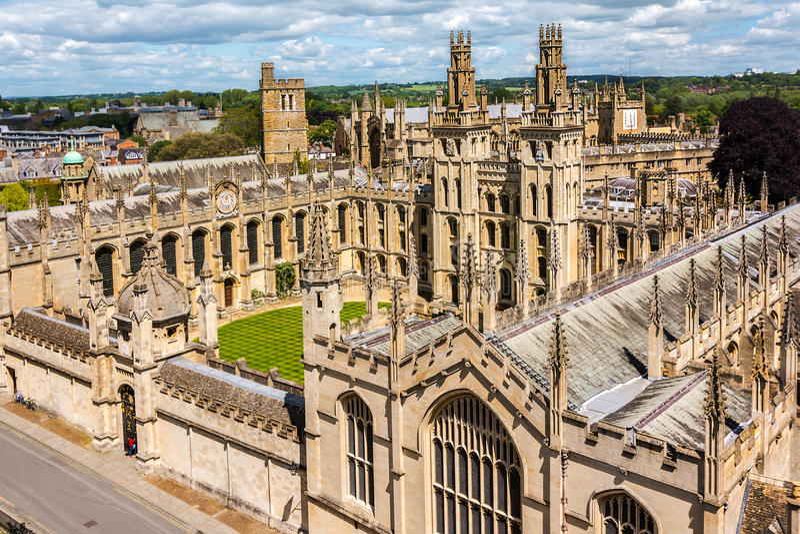 所有灵魂学院,牛津大学 免版税库存图片