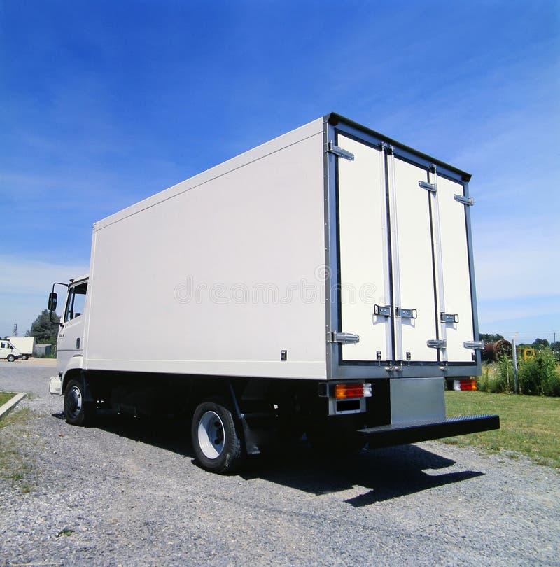 所有烙记的准备好的卡车白色 库存图片