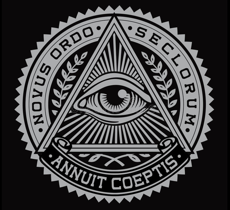 所有看见的眼睛传染媒介 皇族释放例证
