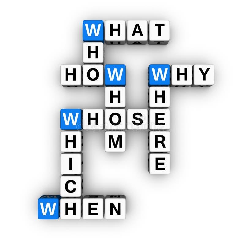 所有纵横填字谜问题字 向量例证