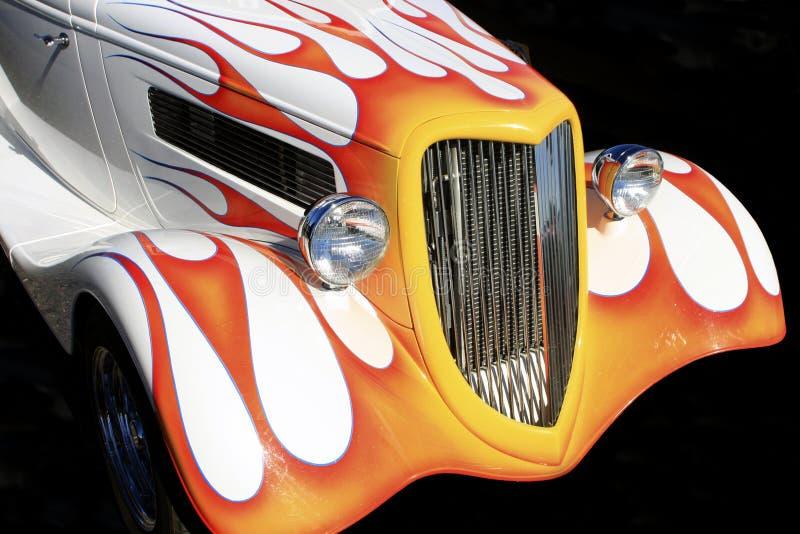 所有美国旧车改装的高速马力汽车 免版税库存图片