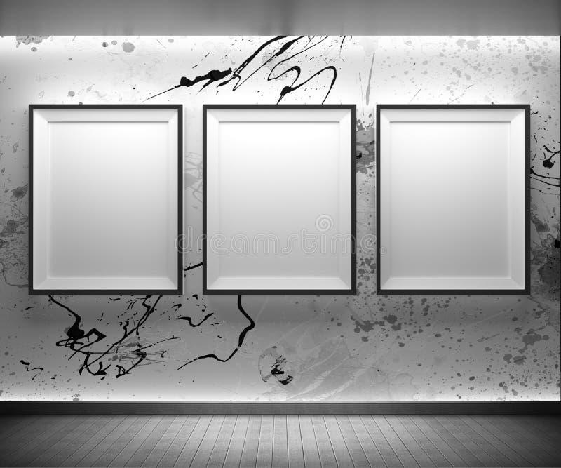 所有艺术过滤了画廊照片全部照片的墙壁 皇族释放例证