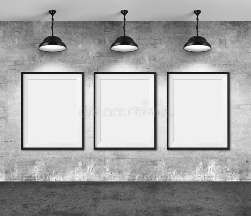 所有艺术过滤了画廊照片全部照片的墙壁 库存例证