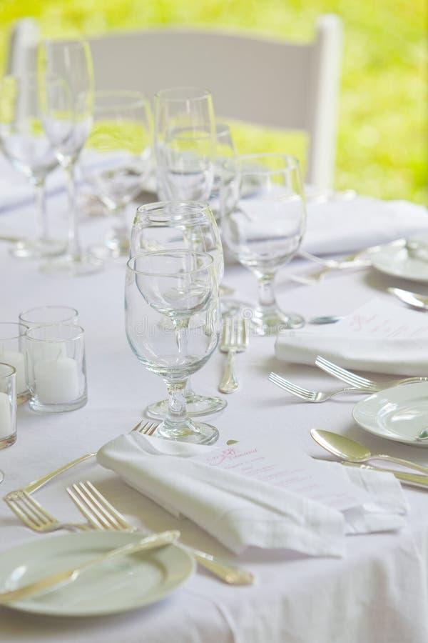 所有表婚礼白色 图库摄影
