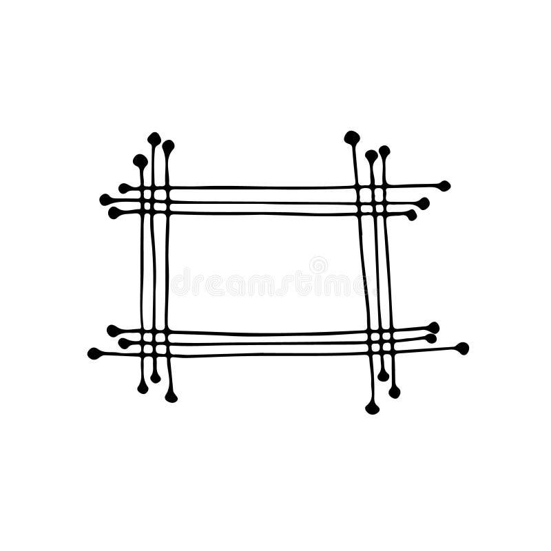 所有被画的容易地编辑的要素框架现有量层分隔 动画片样式 皇族释放例证