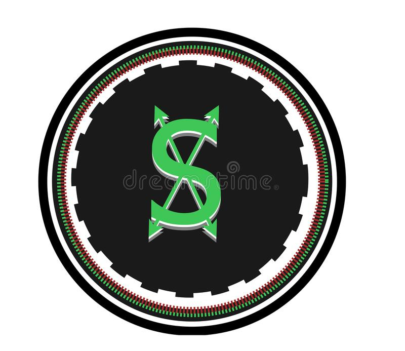 所有货币事务的新的商标 皇族释放例证
