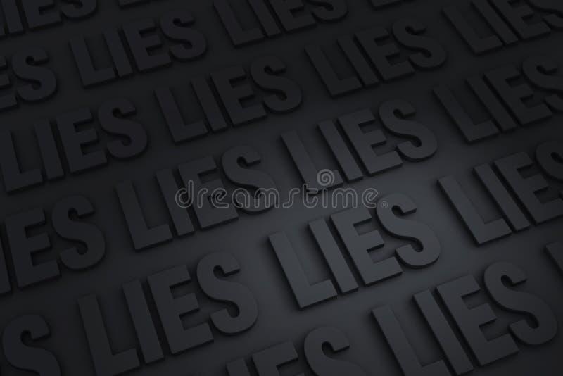 所有说谎 皇族释放例证