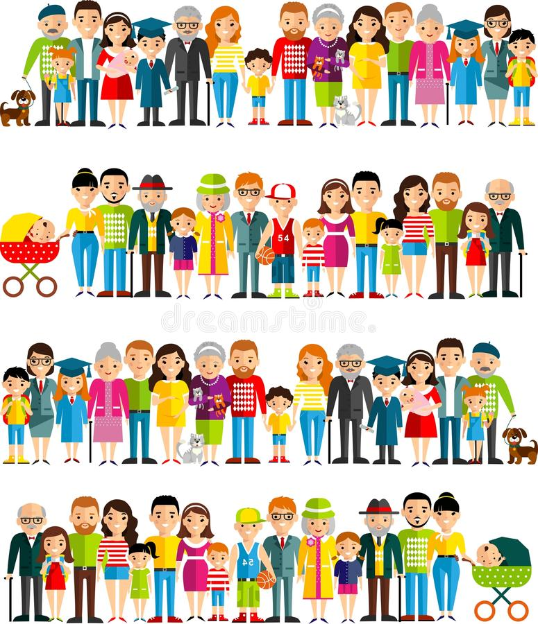 所有年龄组欧洲人民 世代供以人员和妇女