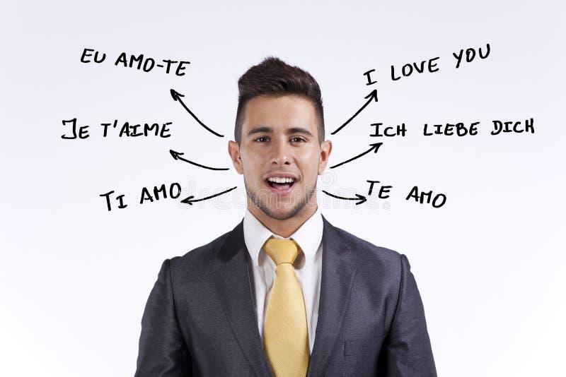 所有i语言爱您 库存图片
