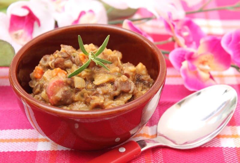 扁豆汤 库存照片