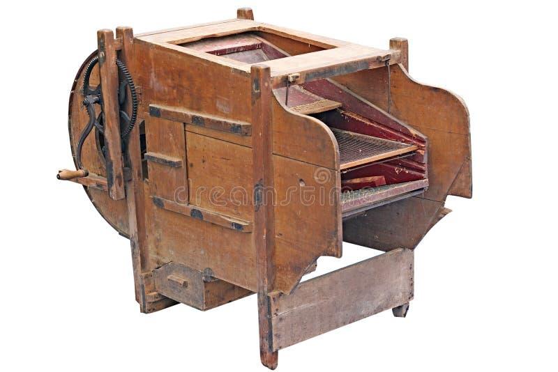 扇动机器的葡萄酒清洗五谷 免版税图库摄影