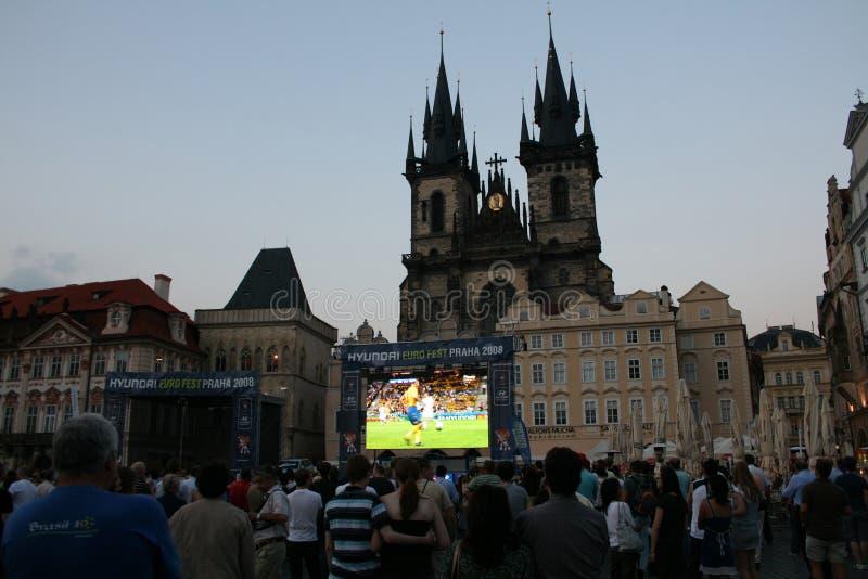 扇动橄榄球布拉格注意 免版税图库摄影