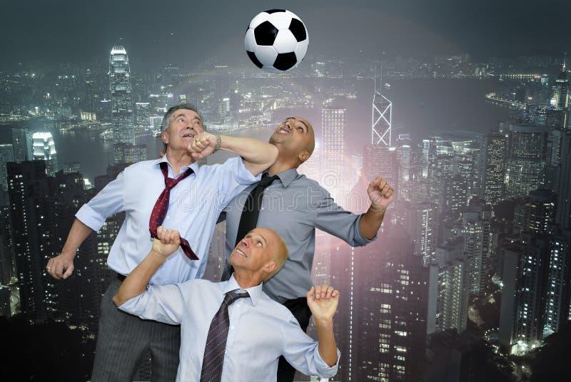 扇动足球 免版税库存照片