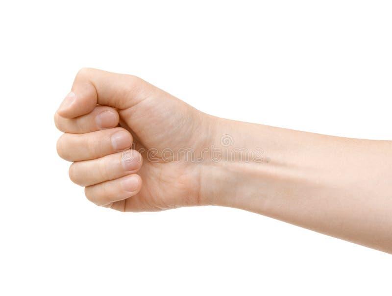 手举行某事 免版税库存照片