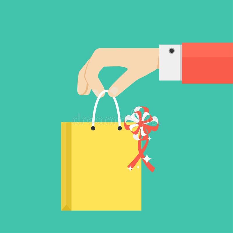 手举行的或提供的礼物或礼物 皇族释放例证