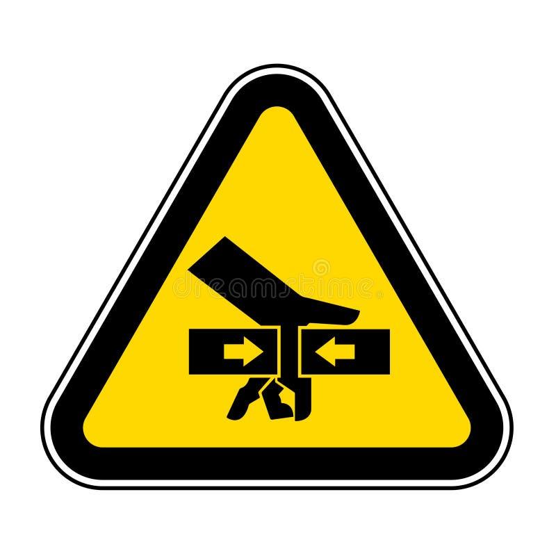 手从双方标志标志,传染媒介例证,在白色背景标签的孤立的易碎力量 EPS10 向量例证