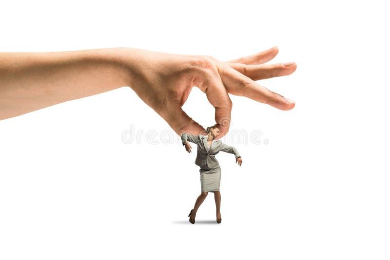 手传染性的妇女 图库摄影