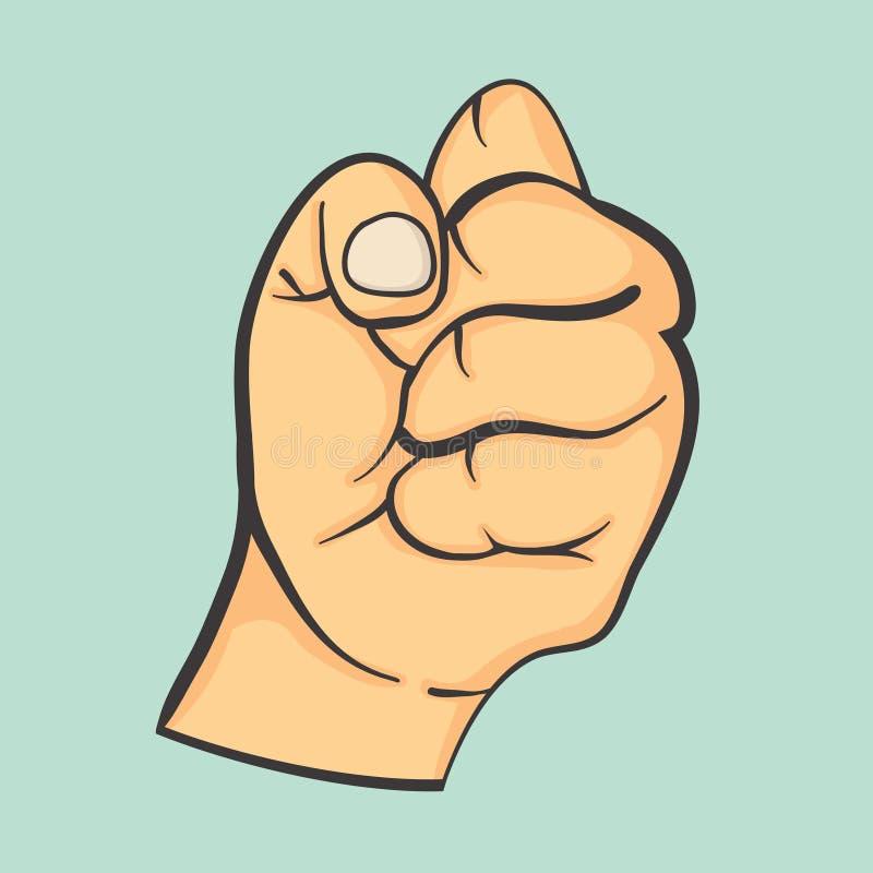手做拳头姿态 向量例证
