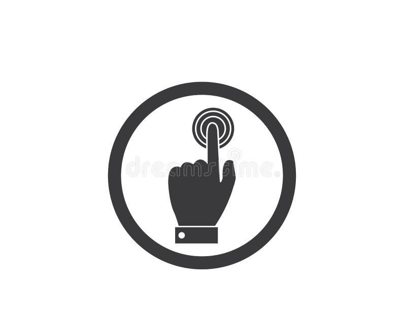 手关心商标模板传染媒介象 向量例证