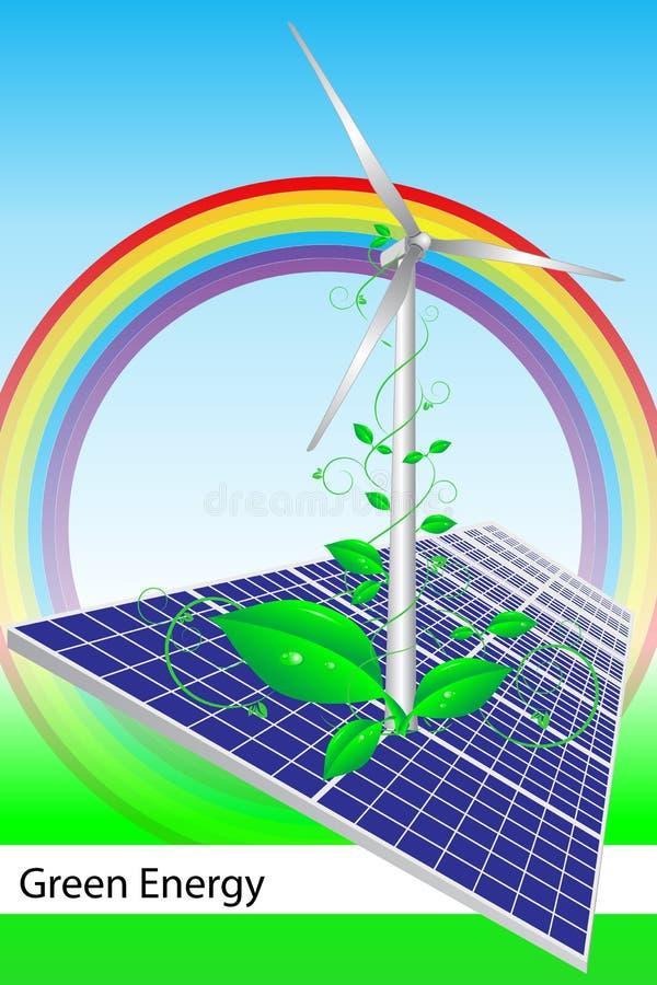 手册名片盖子能源绿色 皇族释放例证