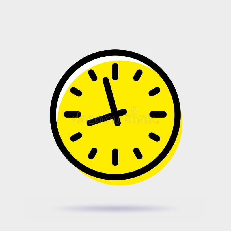 手册咖啡馆时钟设计叉子形成现有量图标匙子 在灰色背景隔绝的简单的传染媒介标志 库存例证
