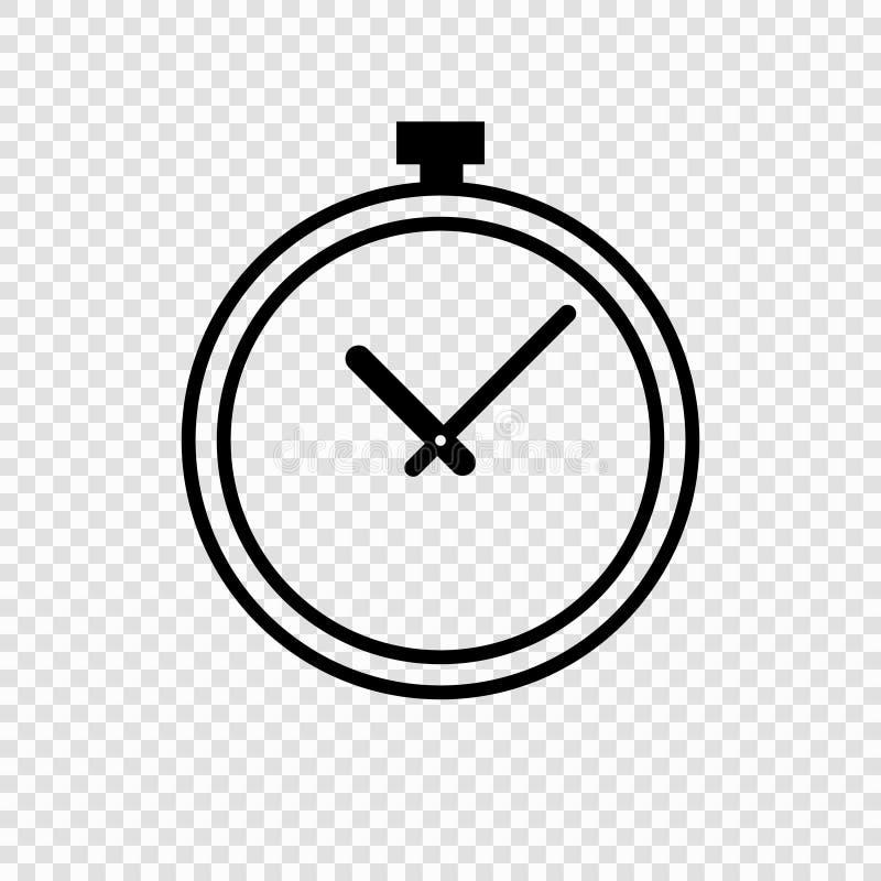 手册咖啡馆时钟设计叉子形成现有量图标匙子 库存例证