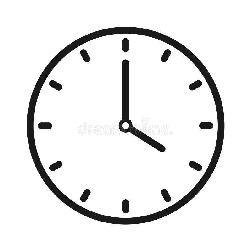 手册咖啡馆时钟设计叉子形成现有量图标匙子 向量例证