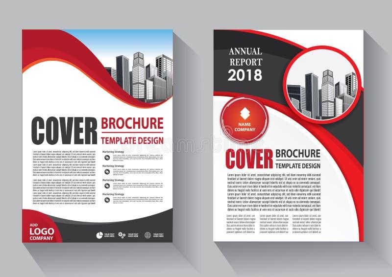 手册模板布局、封面设计年度报告、杂志、传单或小册子背景 免版税库存图片