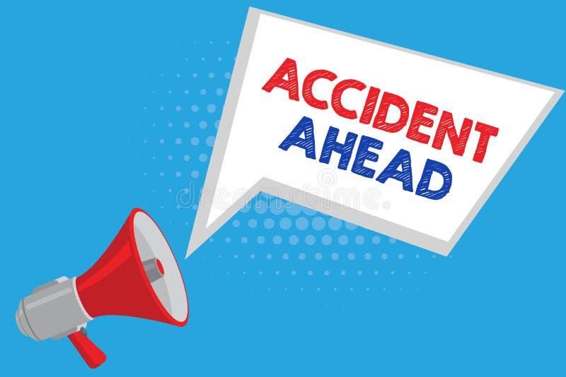 手写前面文本事故 意味不幸的事件的概念是准备的改道避免尾板 向量例证