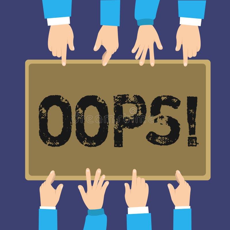 手写发短信哟 概念意思用于显示差错或较小事故道歉的公认 库存例证