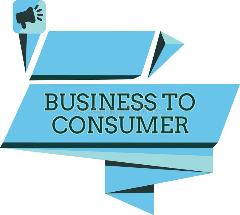 手写对消费者的文本事务 在公司和终端用户之间的概念意思直接交易 向量例证