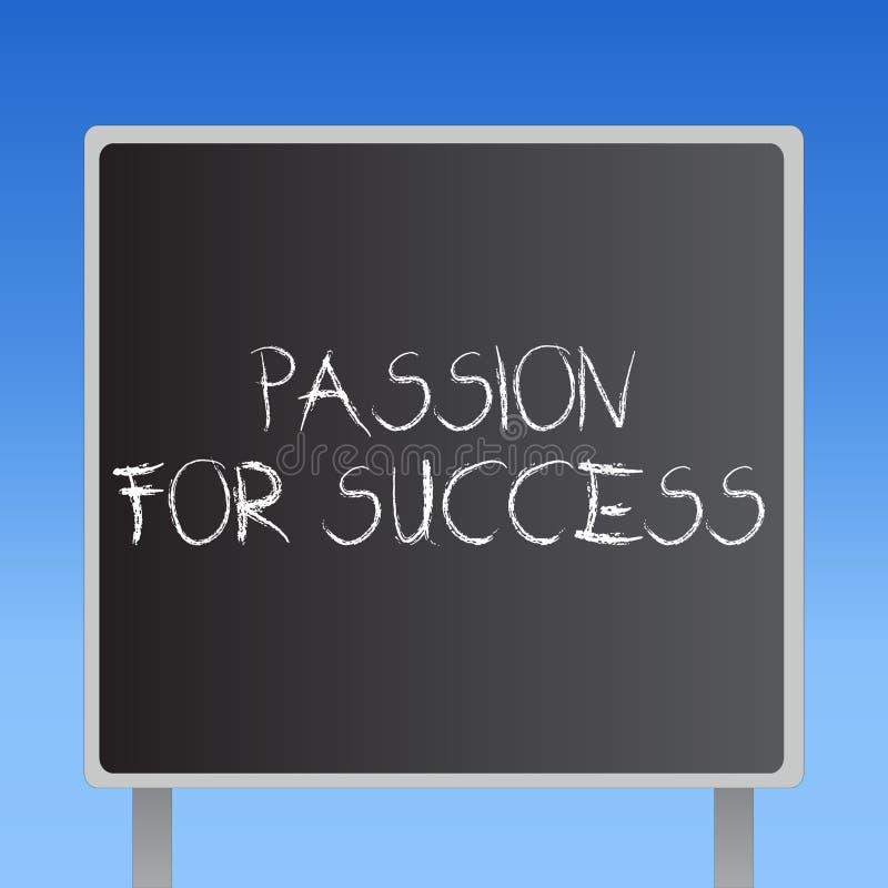 手写成功的文本激情 概念意思热情热忱推进刺激精神概念 向量例证