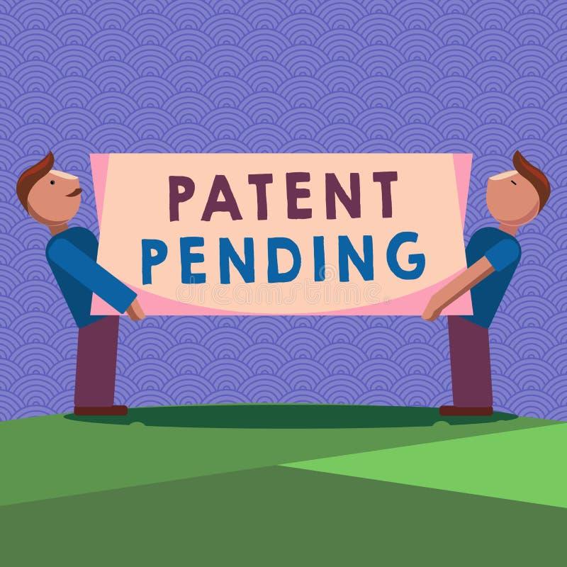 手写文本专利审理文字的 概念已经提出,但是不被授予的意思请求追求保护 向量例证