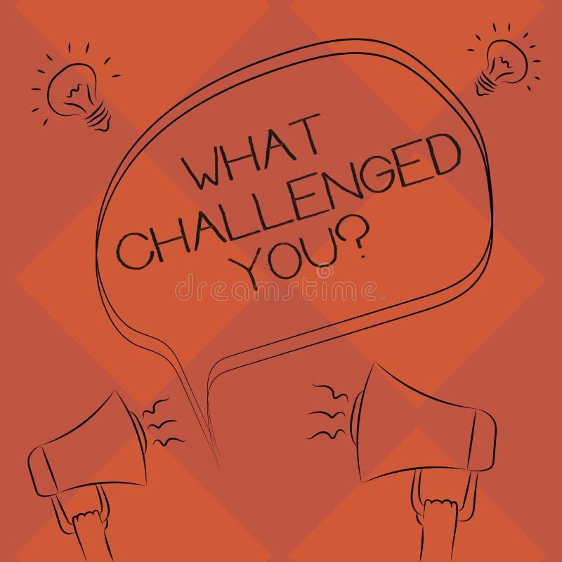 手写文本什么向您挑战 概念意思电话参加的某人徒手画竞争情况 向量例证