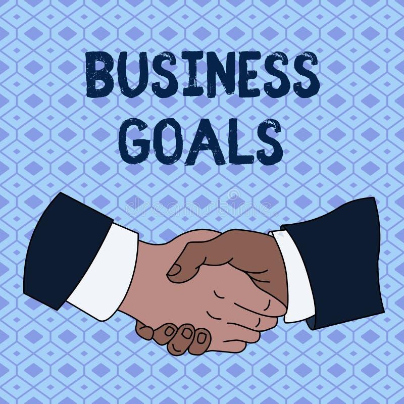 手写文本企业目标 意味期望的概念完成在一个具体时段手震动 向量例证