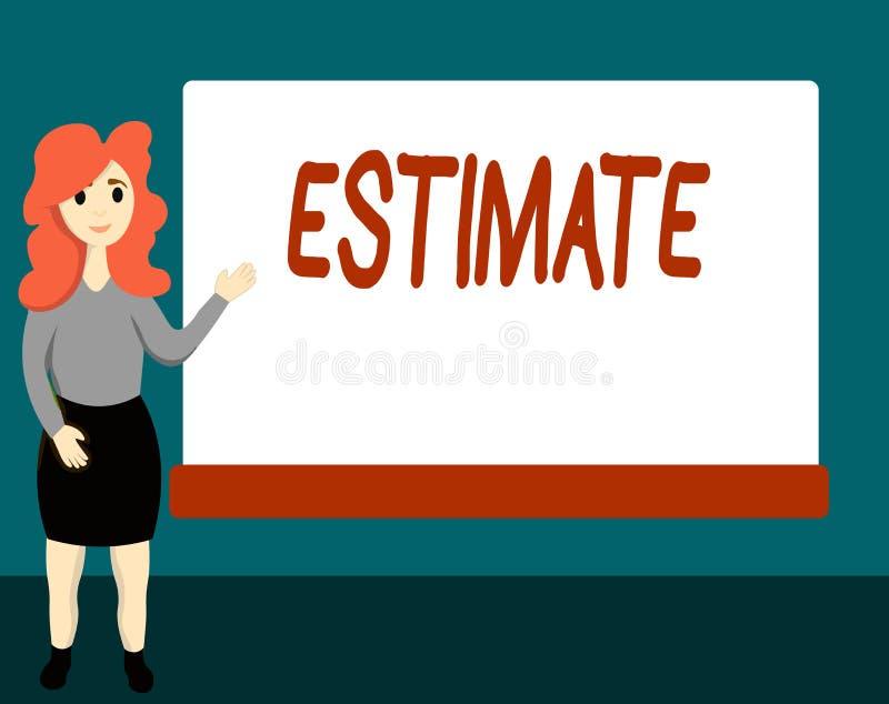 手写文本估计 大致意味的概念计算法官价值数字某事的数量程度 向量例证