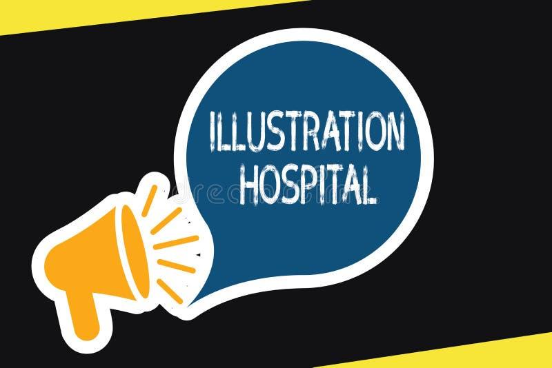 手写文本例证医院 意味医学机关和实践的独特的工艺美术概念 库存例证