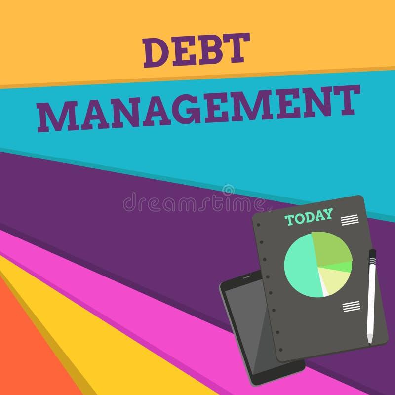 手写文本债务管理 意味在债家和债权人布局智能手机之间的概念正式协议 库存例证