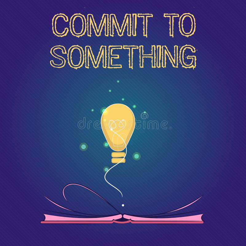 手写文本做对某事 有的概念意思目的生活与自豪感荣誉诺言 向量例证