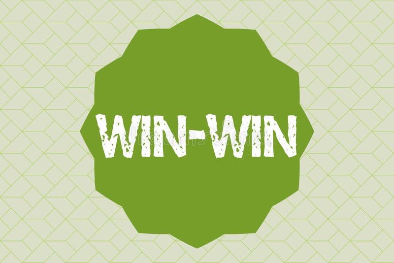 手写文本写双赢 概念两个零件的意思战略获得好处交涉协议 向量例证