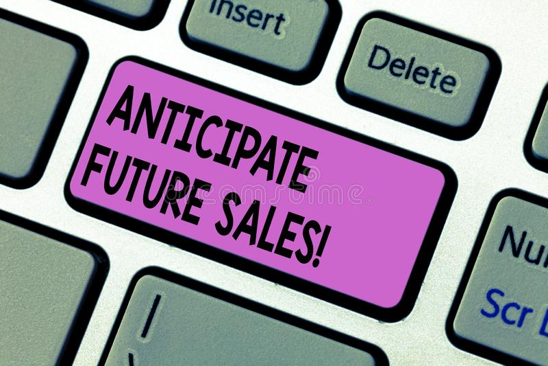 手写文本写期望未来销售 重视有利和风险的概念意思一种投资 库存照片