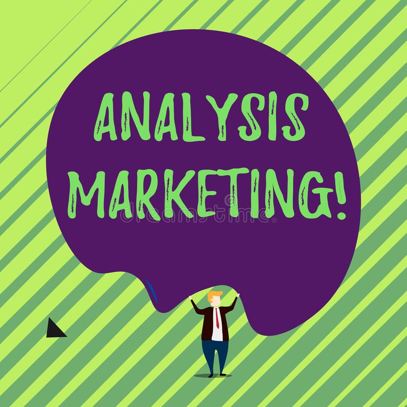 手写文本分析营销 对市场男性人的穿戴的概念意思定量和定性评估 库存例证