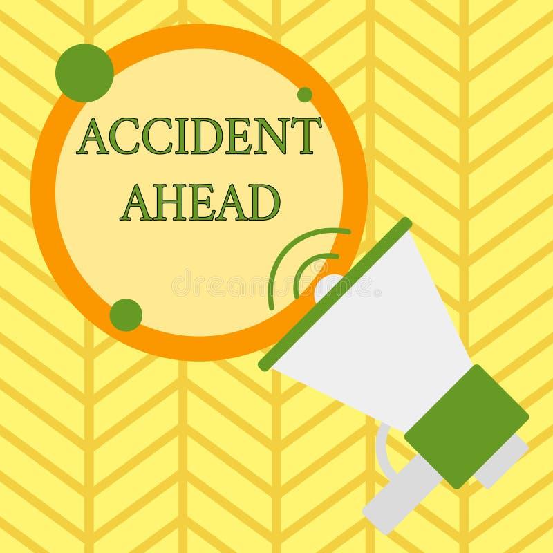 手写文本前面文字事故 概念意思不幸的事件是准备的改道避免尾板 皇族释放例证