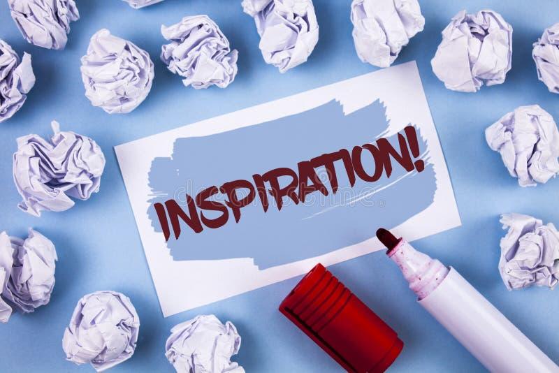 手写文本启发诱导电话 概念要感觉或做事的意思刺激在Painted St写的创造性 免版税图库摄影