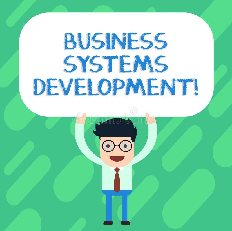手写文本商务系统发展 概念定义和开发系统的意思过程供以人员站立 向量例证
