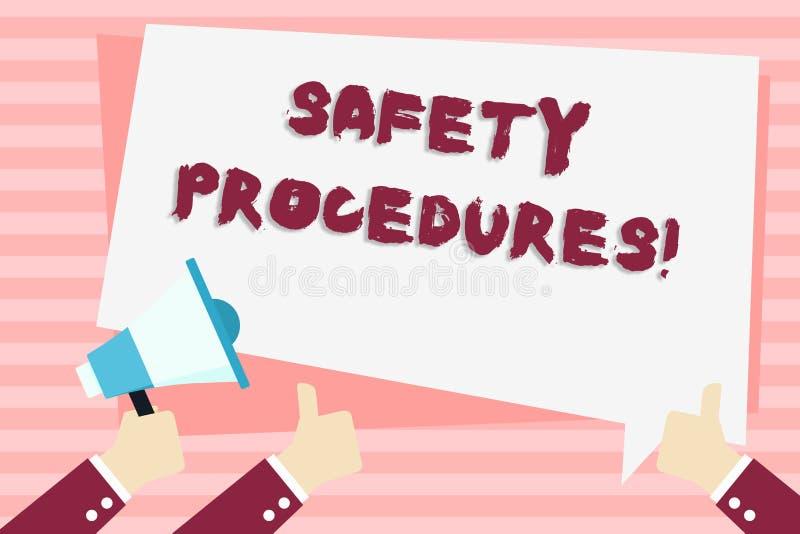 手写文本安全程序 概念意思遵守条例工作场所安全手藏品的 向量例证
